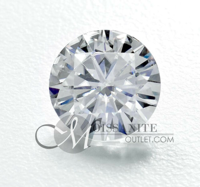 8 mm 1.9 ct Loose Round Moissanite Gem Stone Moissanite Outlet Special 2 ct