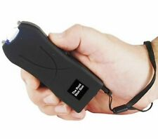 Self Defense Stun Gun Rechargeable 20 Million Volt LED BLACK + free tazer case