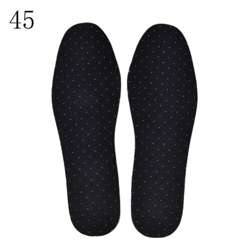 1Pair Bamboo Charcoal Warm Tourmaline Self Heated Shoes Insoles Foot Pad PIG$