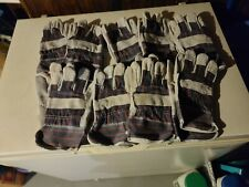 Lot Of 9 Pairs Brand New Leather Work Gloves