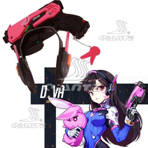 OW Overwatch D.VA Cosplay Gun Headphones Earphones PVC Prop Rabbit Plush Doll