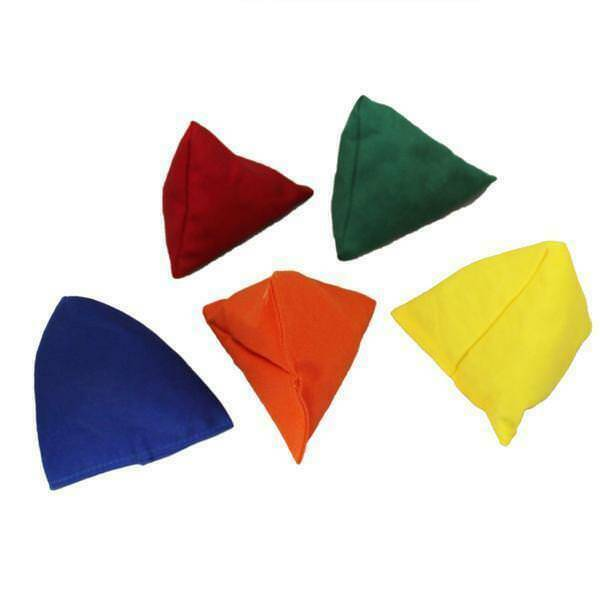 Red Water Resistant Fabric Garden Game Sports PE Sensory Juggling Bean Bags 4 Pack