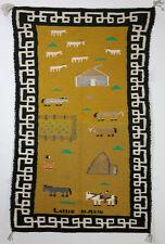"Navajo Pictorial Farm Scene Rug by Lillie Bahe, c. 1970-80, 40"" x 24"""