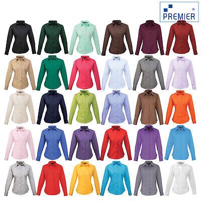 Premier Women's Poplin Long Sleeve Blouse Pr300 Vertrieb Von QualitäTssicherung