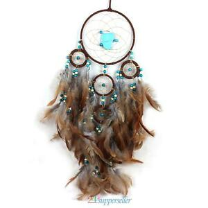 Handmade-Dream-Catcher-Feathers-Beads-Home-Wall-Hanging-Decoration-Ornament-Gift