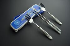 Doraemon Pottery Tableware sets,stainless steel tableware,Fork+Spoon+Chopsticks,