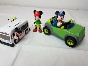 Disney-Mickey-Figure-CAR-amp-Mouse-Bus-Bundle-gratuito-spedizione-veloce