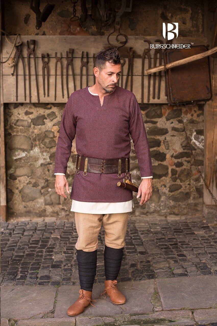 Les cadeaux de Noël sont envoyés tous les jours jours jours Moyen âge tunique vikings, Germains fischgr t laine-Bordeaux/Gris 8ee77a