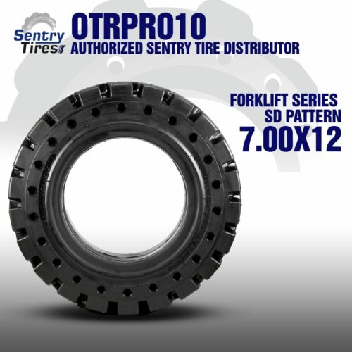 Sentry Tire Solid Forklift Tires Pair 7.00-12 7.00x12 2x Tires SD Pattern