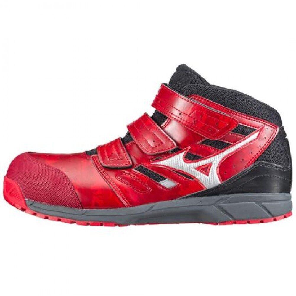 Mizuno Protective Working Sneakers ALMYGHTY LS Mid cut type C1GA1802 Red