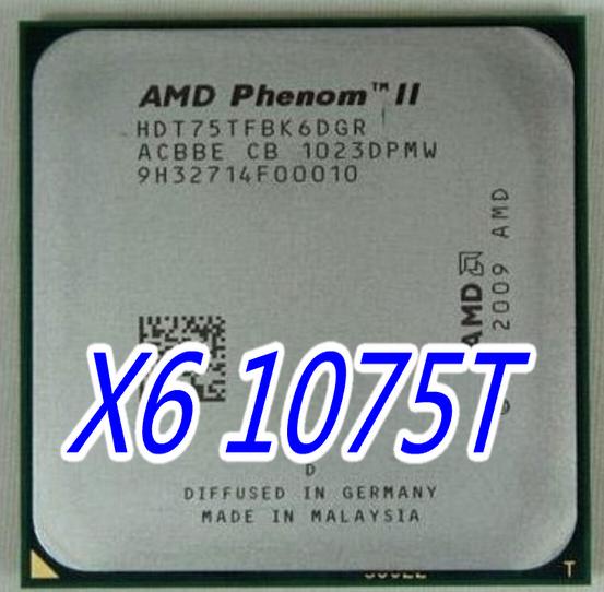 AMD Phenom II X6 1075T HDT75TFBK6DGR 3GHz AM3 6-Core 125W CPU Processor Tested
