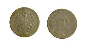S1164_50) Germany - Empire 10 Pfennig 187 (?)