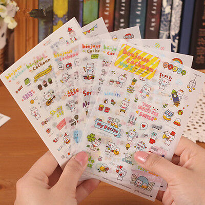 Cute Pig  Diary calendar Filofax Schedule Notebook Deco Point Sticker 6sheet