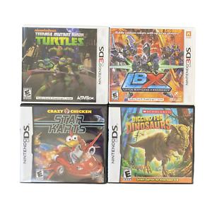 Nintendo-DS-3DS-Game-Lot-LBX-Digging-For-Dinosaurs-Teenage-Mutant-Ninja-Turtles
