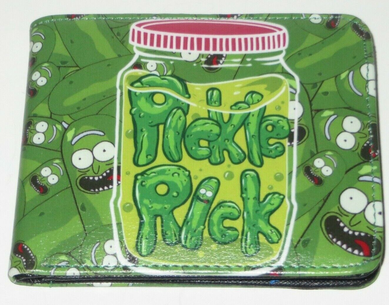 Rick And Morty PICKLE RICK Green Bi Fold Wallet With ID Slot
