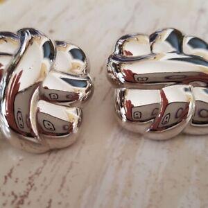 Monet silvertone pierced earrings