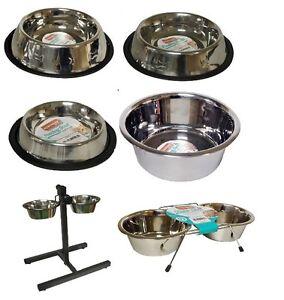 Nuevo-De-Acero-Inoxidable-Antideslizante-dog-cat-Alimentacion-Bowls-Lavaplatos-libre-de-envio