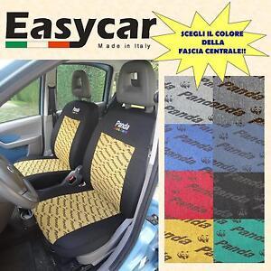 Fodere coprisedili in tessuto elasticizzato per Fiat Panda 4 Posti dal 2012
