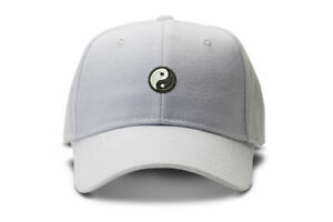 Yin Yang baseball cap slide buckle low profile dad hat trendy 90s ... c9aa69ddb72