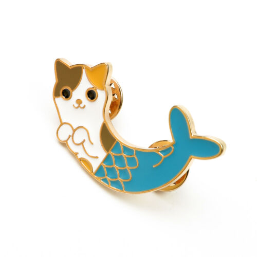 Cat Fish Design Cute Enamel Brooch Pins Shirt Collar Lapel Pin Fashion Jewelry