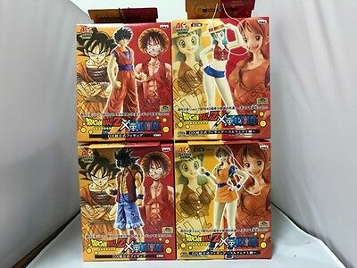 Dragon Ball 40th JUMP ONE PIECE DX Figure Luffy /& GOKU /& Nami /& Buluma 4 Set NEW