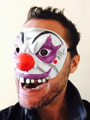 Mezzo Viso Maschera Per Occhi Clown Jester NASO ROSSO SCARY Halloween Costume