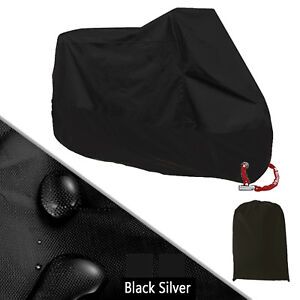 Black-XXXL-Motorcycle-Cover-Waterproof-Outdoor-Rain-Dust-UV-Protector-Motorbike