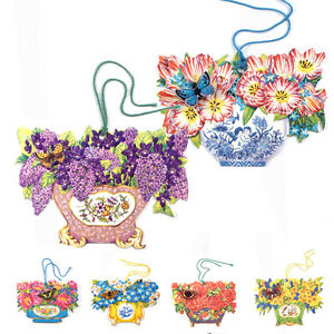 150-Die-cut-Gift-Tags-with-Flowers-in-Antique-Vases-and-a-3D-Butterfly