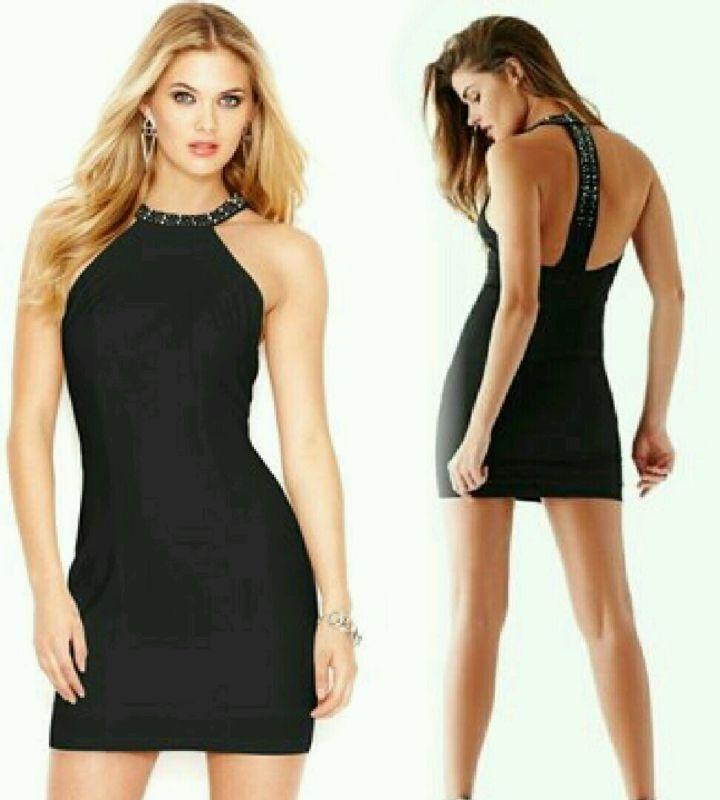 GUESS JET schwarz Sleeveless Embellished Strap Dress  Größe 8
