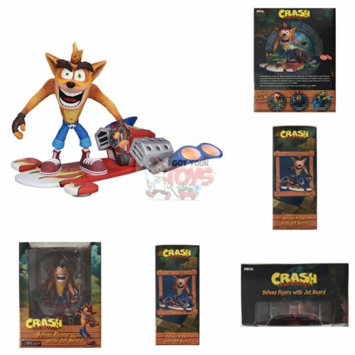 "CRASH BANDICOOT with JET BOARD Neca CRASH 7/"" Inch 2018 Deluxe ACTION Figure"