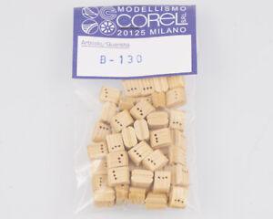 Corel B130 Crochet-Moufle 3 Yeux 7 MM (50 Pièces) Modélisme