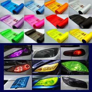 30x100cm-Gloss-Car-Headlight-Fog-Taillight-Wrap-Tint-Vinyl-Film-Sticker-Decal
