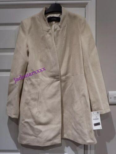 12 Zara Herringbone Ny Coat Frock Large Beige L xvUaBSqw