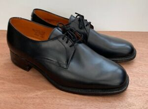 Burton-Latimer-Made-By-Angus-Westley-Mens-Leather-Size-8-Lace-Up-Black-Shoes