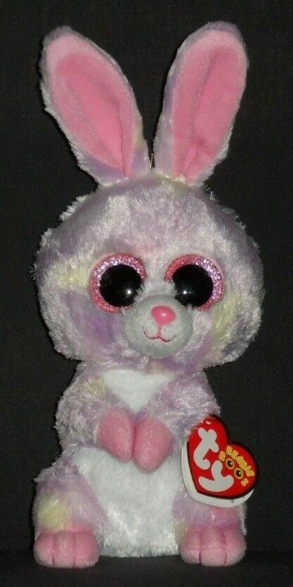 TY BEANIE BOOS - AVRIL the 6  BUNNY - MINT with NEAR MINT TAG - SEE PICS
