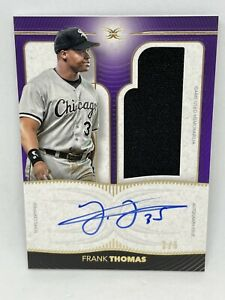 2021 Topps Definitive Baseball FRANK THOMAS #/5 PURPLE GAME USED PATCH AUTO 🔥