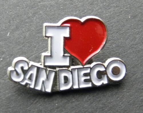 I LOVE HEART SAN DIEGO CALIFORNIA LAPEL PIN BADGE 3//4 INCH