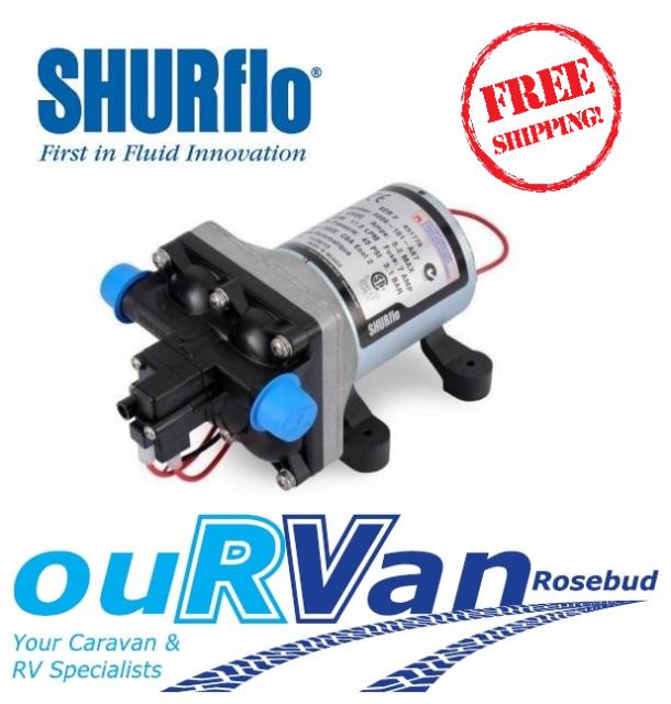 SHURFLO 4009 12V WATER PUMP CARAVAN 11 L P/M 45PSI 040860 JAYCO RV