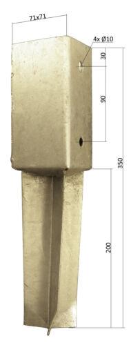 Bodenhülse Pfostenträger 71mm oder 91mm zum einbetonieren