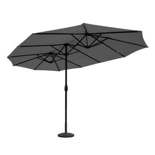 270 x 460 x245 cm en aluminium double parasol parasol XXL ovale-parapluie gris