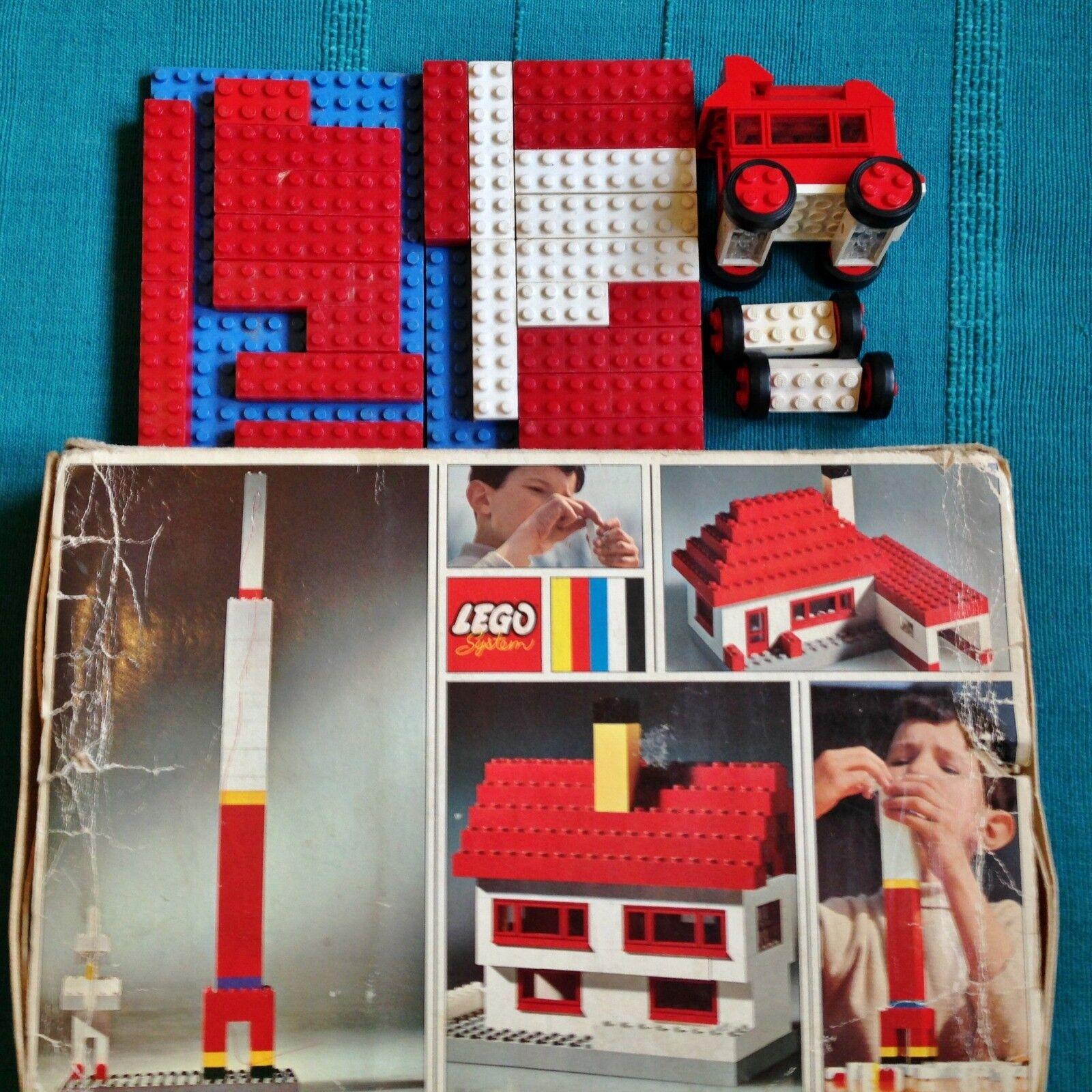 Ancienne boite lego remplie - vintage année 60