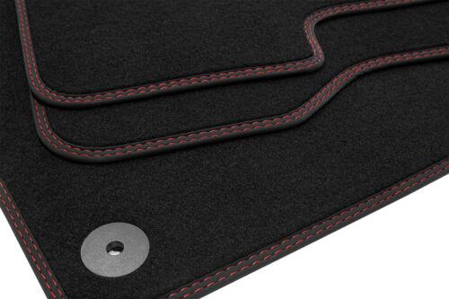 Doppelziernaht Fußmatten für Jaguar E-Pace ab Bj 01//2018