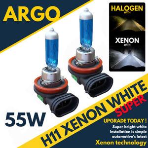 2x-H11-6500k-55w-Fog-Light-Bulbs-Hid-Look-Xenon-White-Fantastic-Colour-Uk-Seller