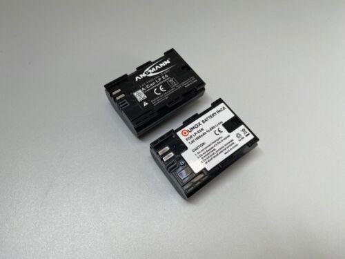 Bateria 2x-lp-e6 para Canon EOS 5d Mark II//III 70d 80d 7d 6d