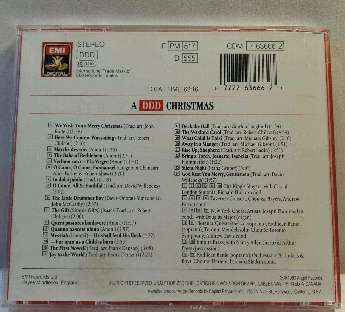 A DDD Christmas: Sampler by Various Artists (CD, Aug-1990, EMI Angel (USA))