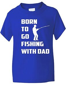 ne-jusqu-039-a-Go-Fishing-Avec-Dad-Sport-Drole-Enfants-Garcons-Filles-T-Shirt