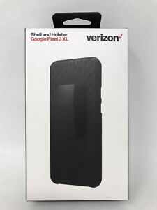 new concept 0db8d 62c81 Details about Verizon Shell and Holster Combo Case for Google Pixel 3 XL -  Black New