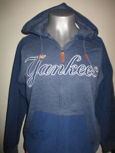 sports shoes d07f3 5bea8 Details about New York Yankees Hoodie Full Zippered Sweatshirt - Majestic -  NWT