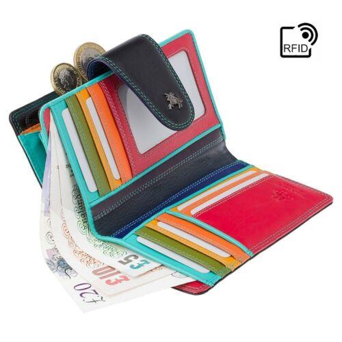 Visconti Da Donna RFID Medio 9 Scheda Zip Intorno Portamonete Morbida Pochette in Pelle Vera SP30