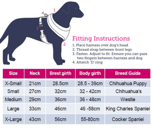 Doodlebone Dog Puppy Harness Toughie Reflective Soft Mesh//Vest